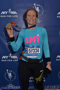NYC Marathon Amy on podium 2 Nov 2014